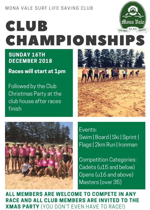 2018 MVSLSC Club Championships